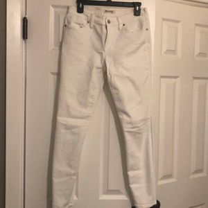 Madewell White Skinny Skinny Jeans
